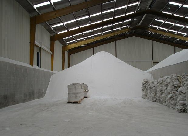 Bulk powder warehouse